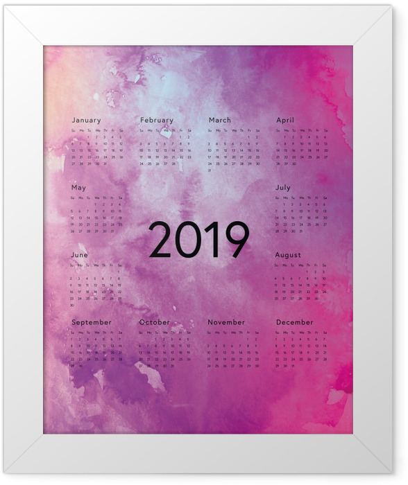 Calendar 2019 - magical purple Framed Poster - Calendars 2019