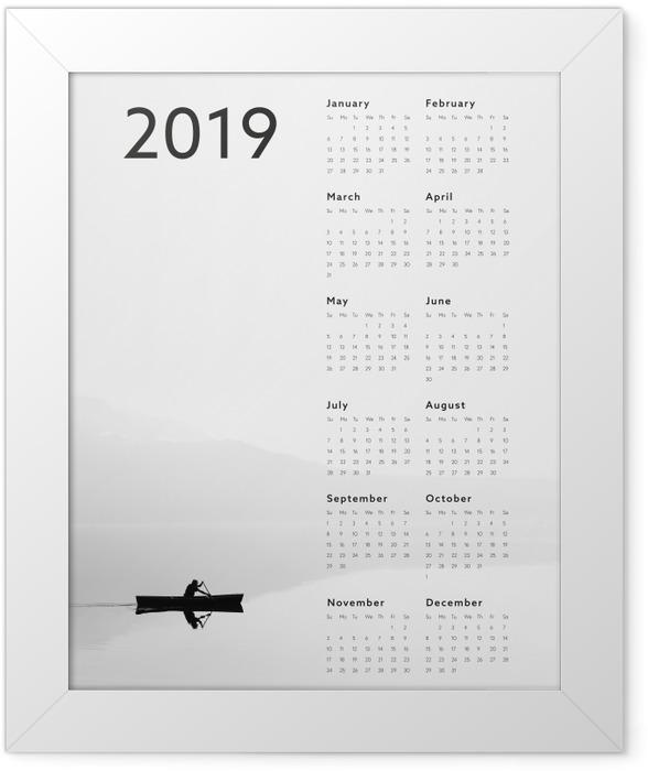 Calendar 2019 - lake Framed Poster - Calendars 2019