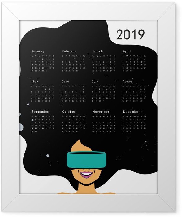 Calendar 2019 - be joyful Framed Poster - Calendars 2019