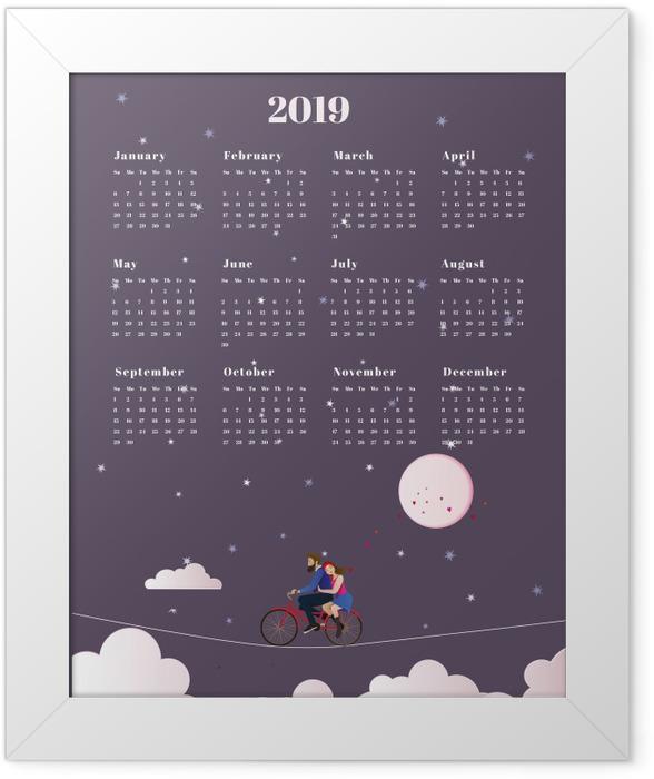 Calendar 2019 - journey Framed Poster - Calendars 2019