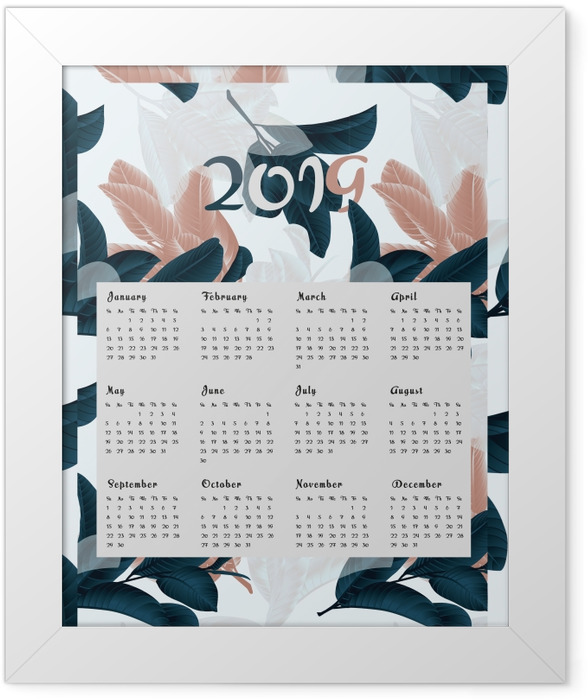 Calendar 2019 - flowers Framed Poster - Calendars 2019