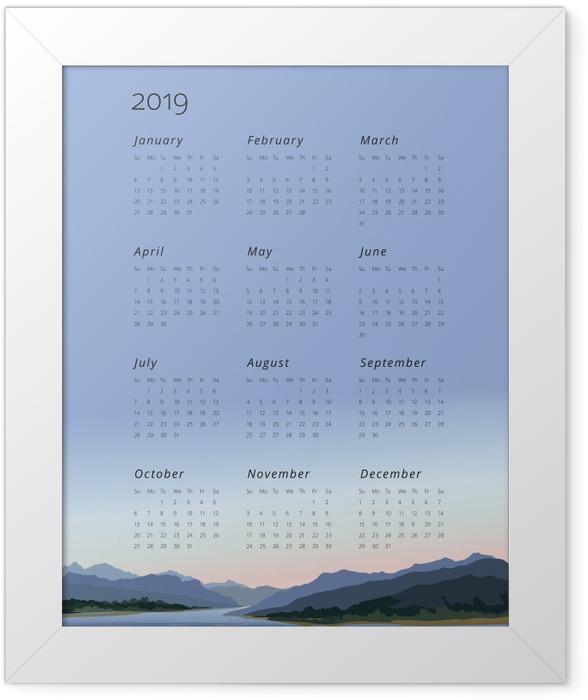 Calendar 2019 - keep calm Framed Poster - Calendars 2019