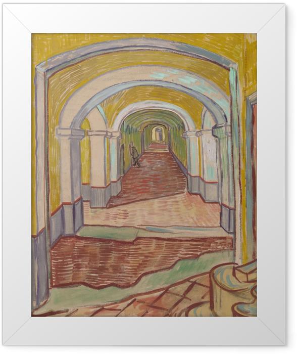 Plakat w ramie Vincent van Gogh - Korytarz w azylu - Reproductions
