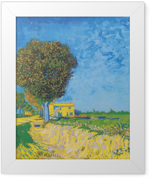 Gerahmtes Poster Vincent van Gogh - Allee bei Arles - Reproductions