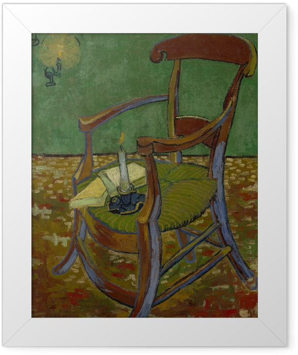 Gerahmtes Poster Vincent van Gogh - Gauguins Stuhl - Reproductions