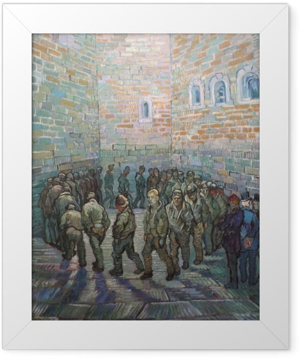 Gerahmtes Poster Vincent van Gogh - Der Rundgang der Gefangenen - Reproductions