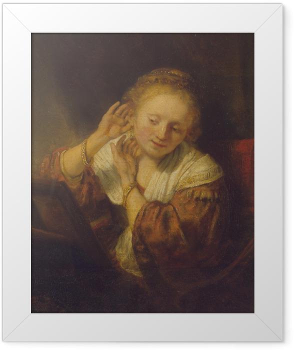 Plakat w ramie Rembrandt - Młoda dziewczyna z kolczykami - Reprodukcje