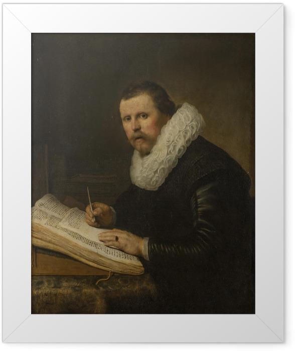 Poster en cadre Rembrandt - Portrait d'un savant à son bureau - Reproductions