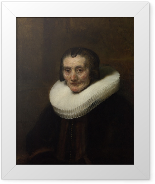 Gerahmtes Poster Rembrandt - Porträt der Margaretha de Geer - Reproduktion