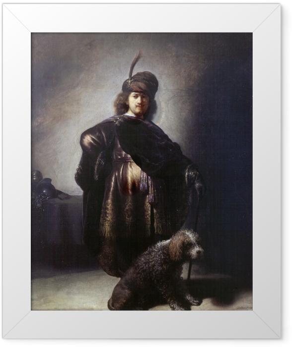 Gerahmtes Poster Rembrandt - Selbstbildnis in orientalischer Kleidung - Reproduktion