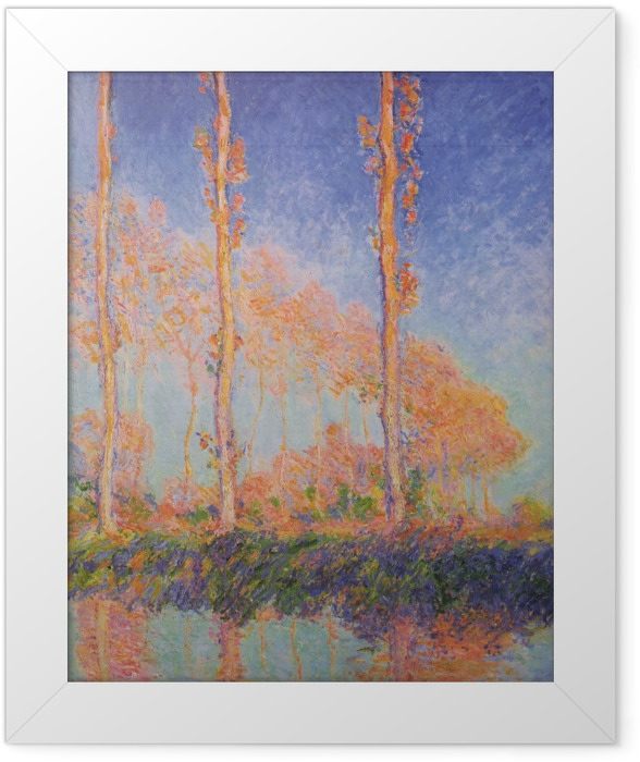 Poster en cadre Claude Monet - Trois Peupliers en automne - Reproductions
