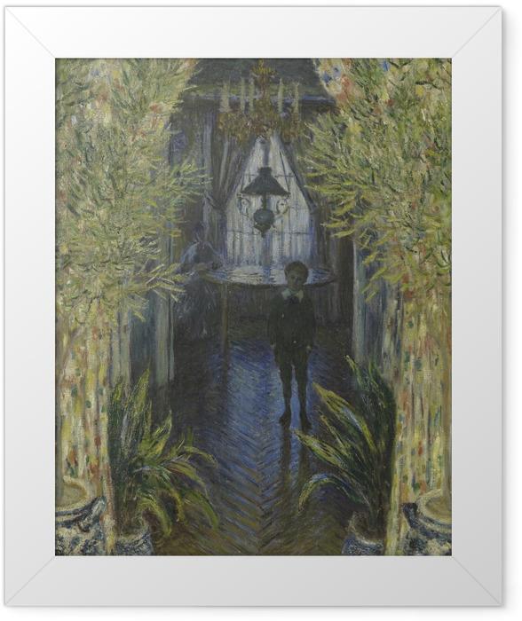 Gerahmtes Poster Claude Monet - Einblick in eine Wohnung - Reproduktion