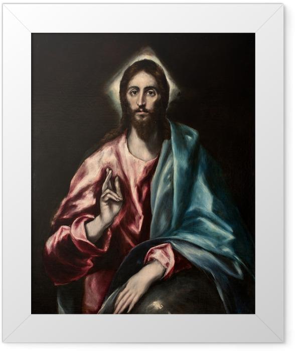 Poster en cadre Le Greco - Salvator Mundi (Le Sauveur) - Reproductions