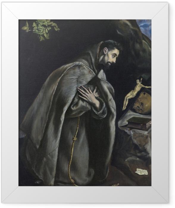 Poster en cadre Le Greco - Saint François d'Assise - Reproductions