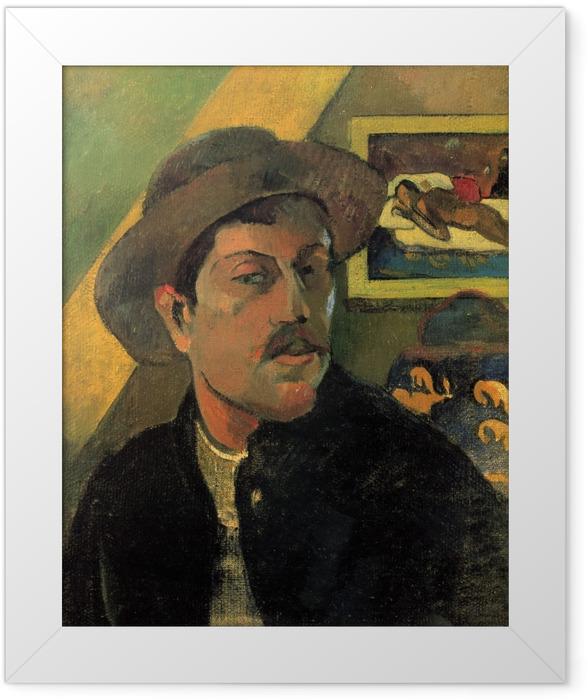 Gerahmtes Poster Paul Gauguin - Porträt des Künstlers - Reproduktion