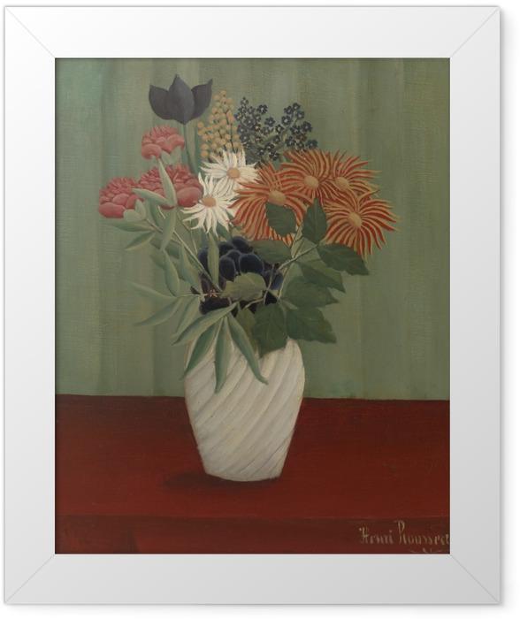 Poster en cadre Henri Rousseau - Bouquet de fleurs - Reproductions