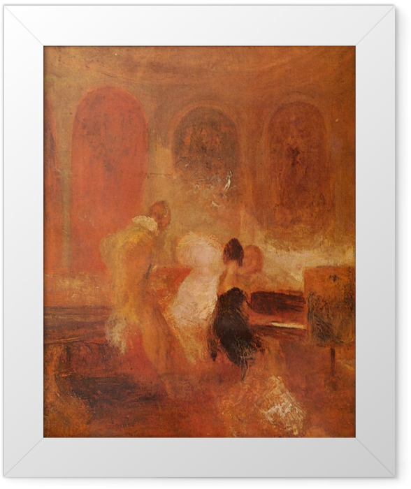 Gerahmtes Poster William Turner - Musikgesellschaft in East Cowes Castle - Reproduktion