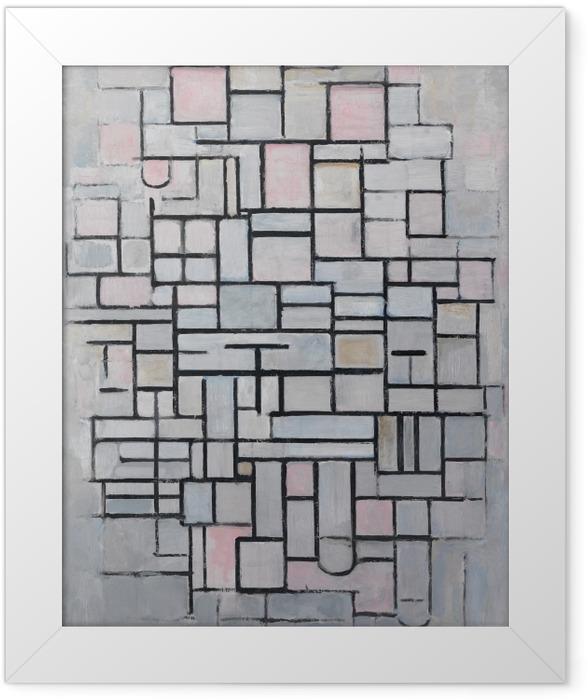 Poster en cadre Piet Mondrian - Composition n ° 4 - Reproductions