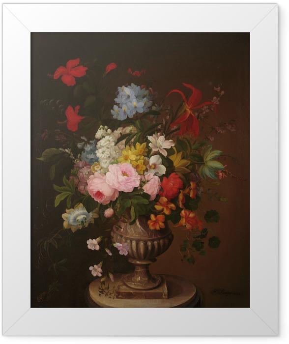 Gerahmtes Poster Henryka Beyer - Blumen in der Vase - Reproductions