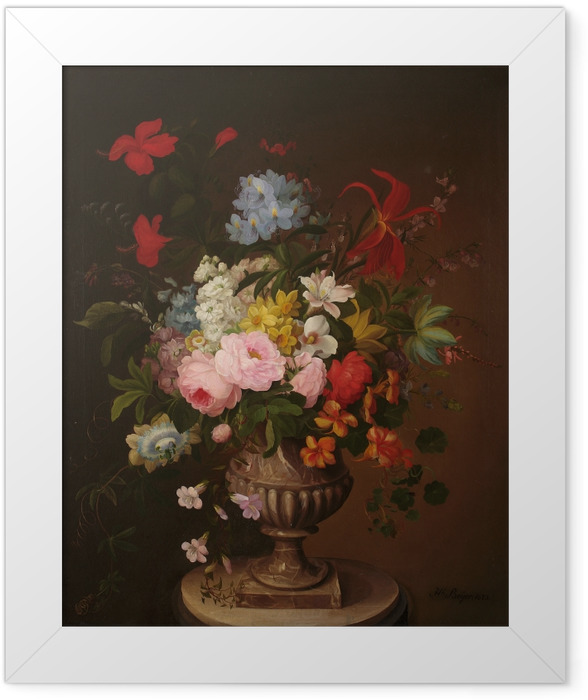 Poster en cadre Henryka Beyer - Fleurs dans un pot - Reproductions