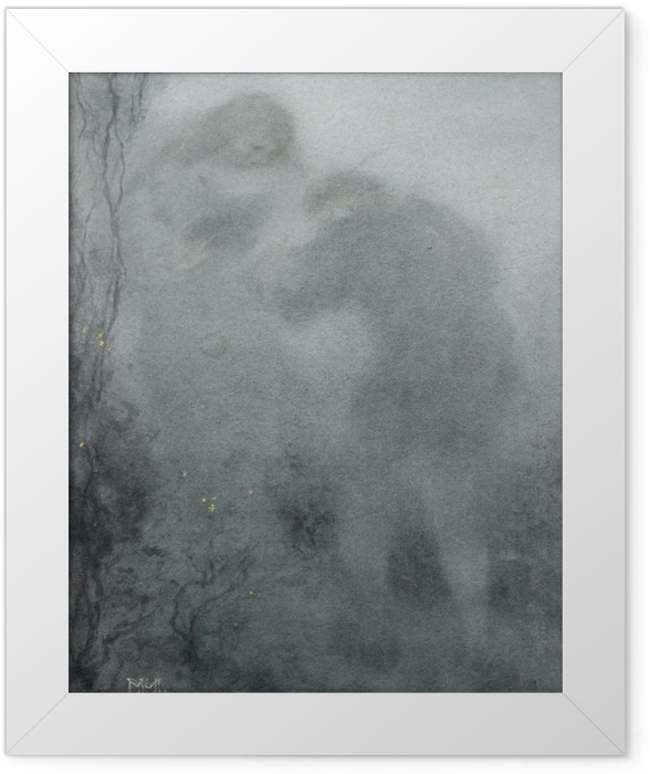 Ingelijste Poster Matthijs Maris - Siluety v lese - Reproductions