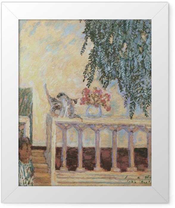 Poster en cadre Pierre Bonnard - Chats sur la balustrade - Reproductions