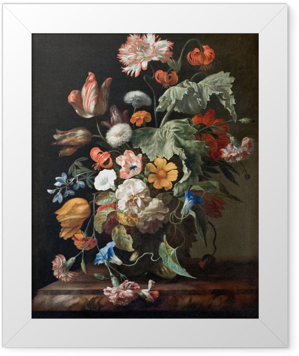 Gerahmtes Poster Rachel Ruysch - Still-Life with Flowers - Reproduktion