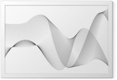 Gerahmtes Poster Wellen und linien