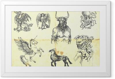 Póster Enmarcado Criaturas místicas. Según los antiguos mitos griegos.