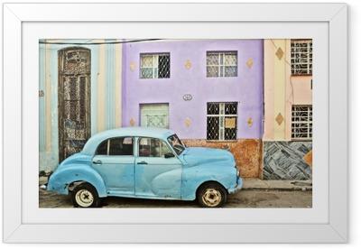 Gerahmtes Poster Kuba, La Habana, aufgeschlüsselt nach Vintage Car
