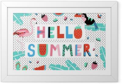 Ingelijste Poster Hallo zomer poster