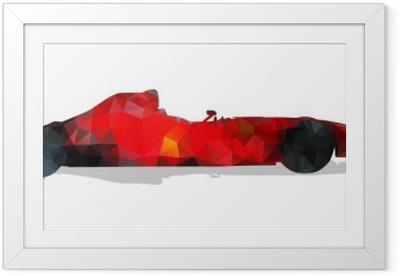Poster in Cornice Formula auto da corsa. Red illustrazione vettoriale astratto geometrica.