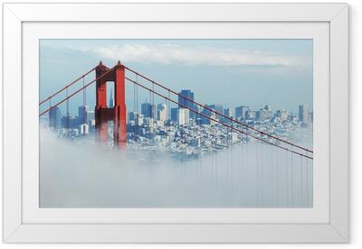 Poster en cadre Golden gate san francisco et dans le brouillard - Thèmes