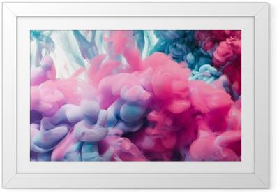 Poster en cadre Éclaboussure d'encre de couleur. abstrait - Passe-temps et loisirs