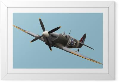 Poster i Ram Isolerade Spitfire