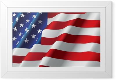 Poster en cadre Vecteur de drapeau américain - Drapeaux nationaux