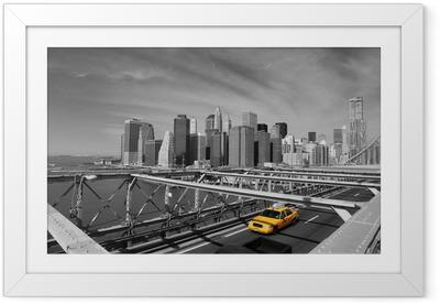 Brooklyn silta-taksi, new york Kehystetty juliste