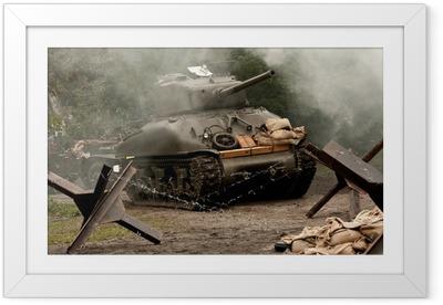 Póster Enmarcado El tanque de Sherman - WW II