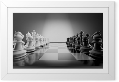 Chess composition Framed Poster