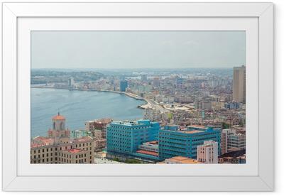 Poster en cadre Vue aérienne de la côte Havane