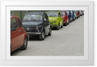 Poster en cadre Fiat 500 rallye