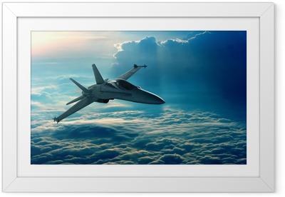 Póster Enmarcado Combatiente de jet