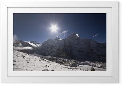 Gerahmtes Poster Sonnenaufgang am Mount Everest in Nepal