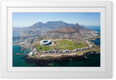 Poster in Cornice Generale veduta aerea di Città del Capo, Sud Africa