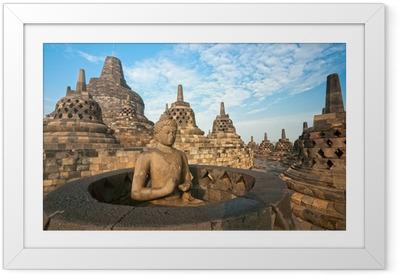 Borobudur Temple, Yogyakarta, Java, Indonesia. Framed Poster