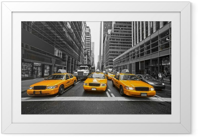 NEW YORK CITY -MARCH 25: Times Square, featured with Broadway Th Framed Poster