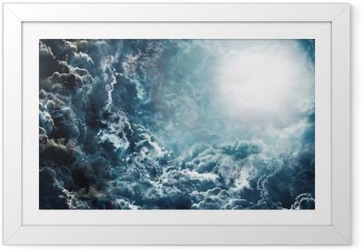 Poster en cadre Ciel sombre avec la lune