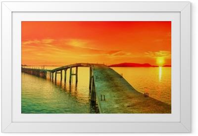 Rámovaný obraz Sunset panorama