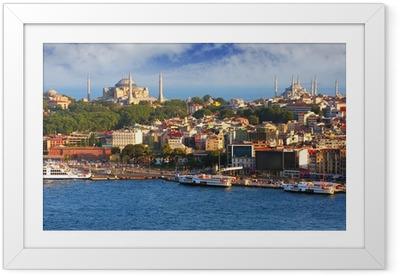 Póster com Moldura Istanbul from Galata tower, Turkey
