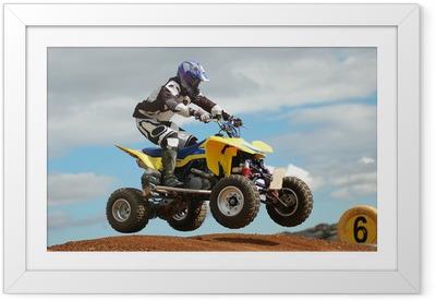 Ingelijste Poster Quad Bike Racing